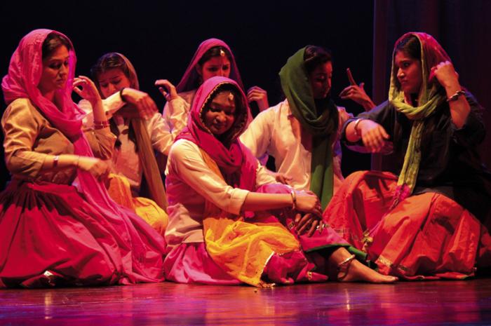 Gruppo di donne indiane